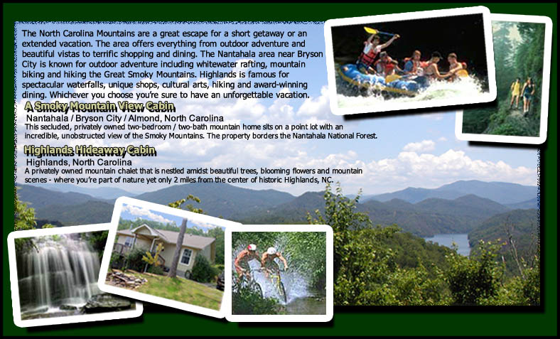 Cabin Mountain Rentals Home Page Image
